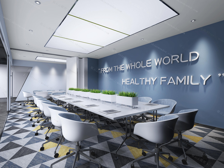 会议室  会议桌 会议椅 办公室 地毯模型