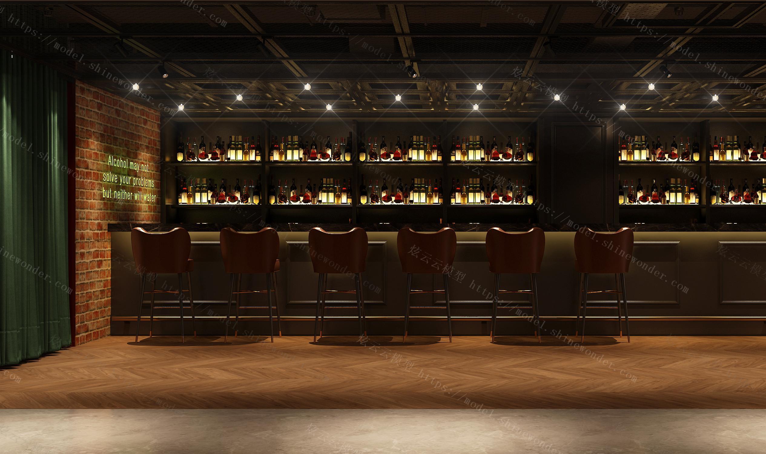 威士忌酒吧模型