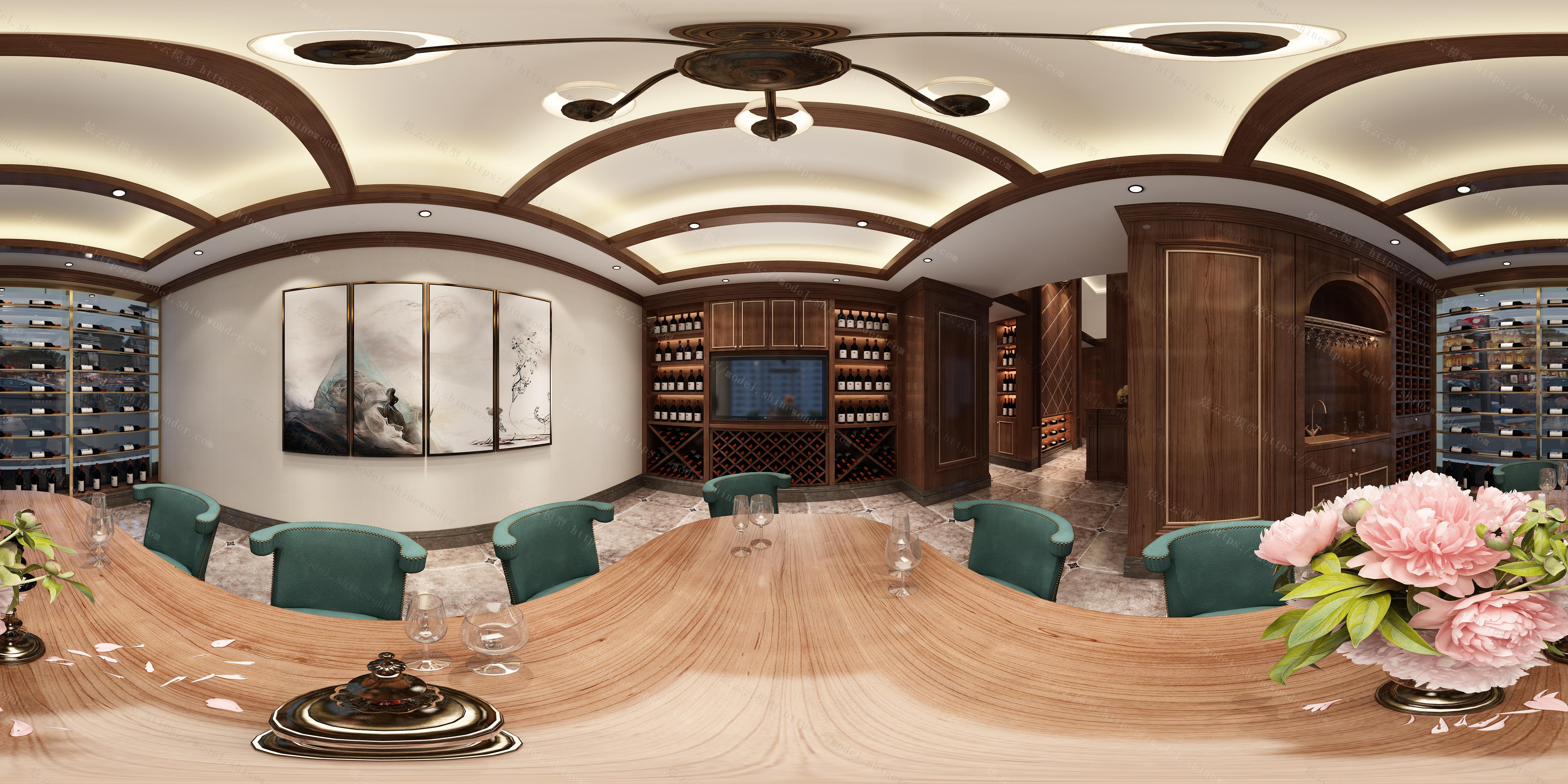 会所品酒室模型