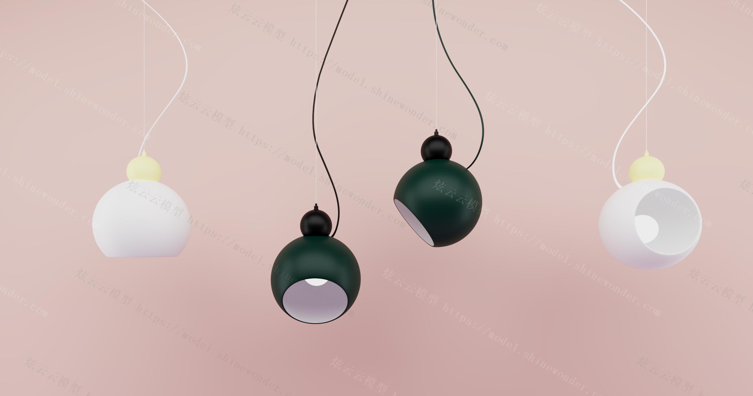 工业风小吊灯模型