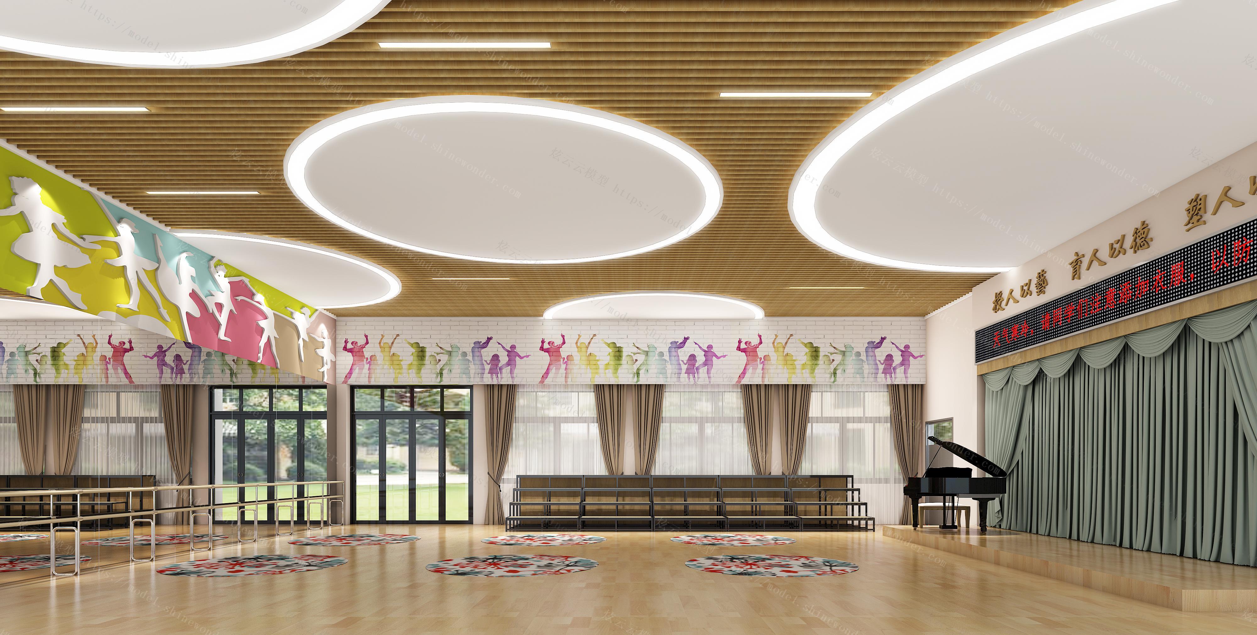 舞蹈室模型