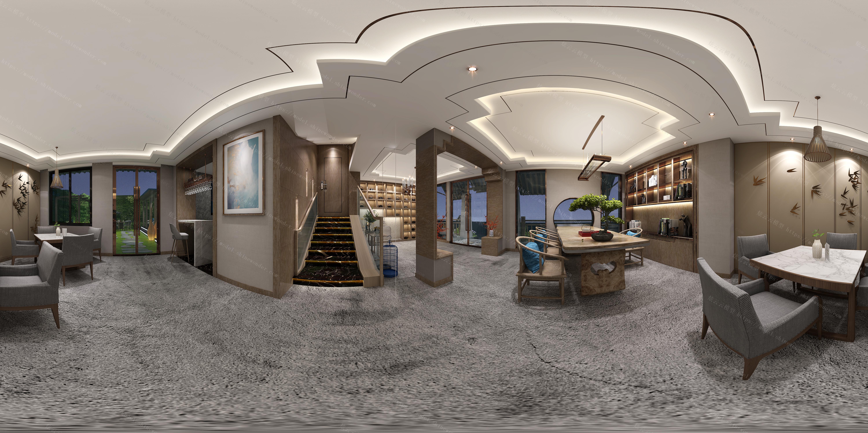 名宿大厅模型