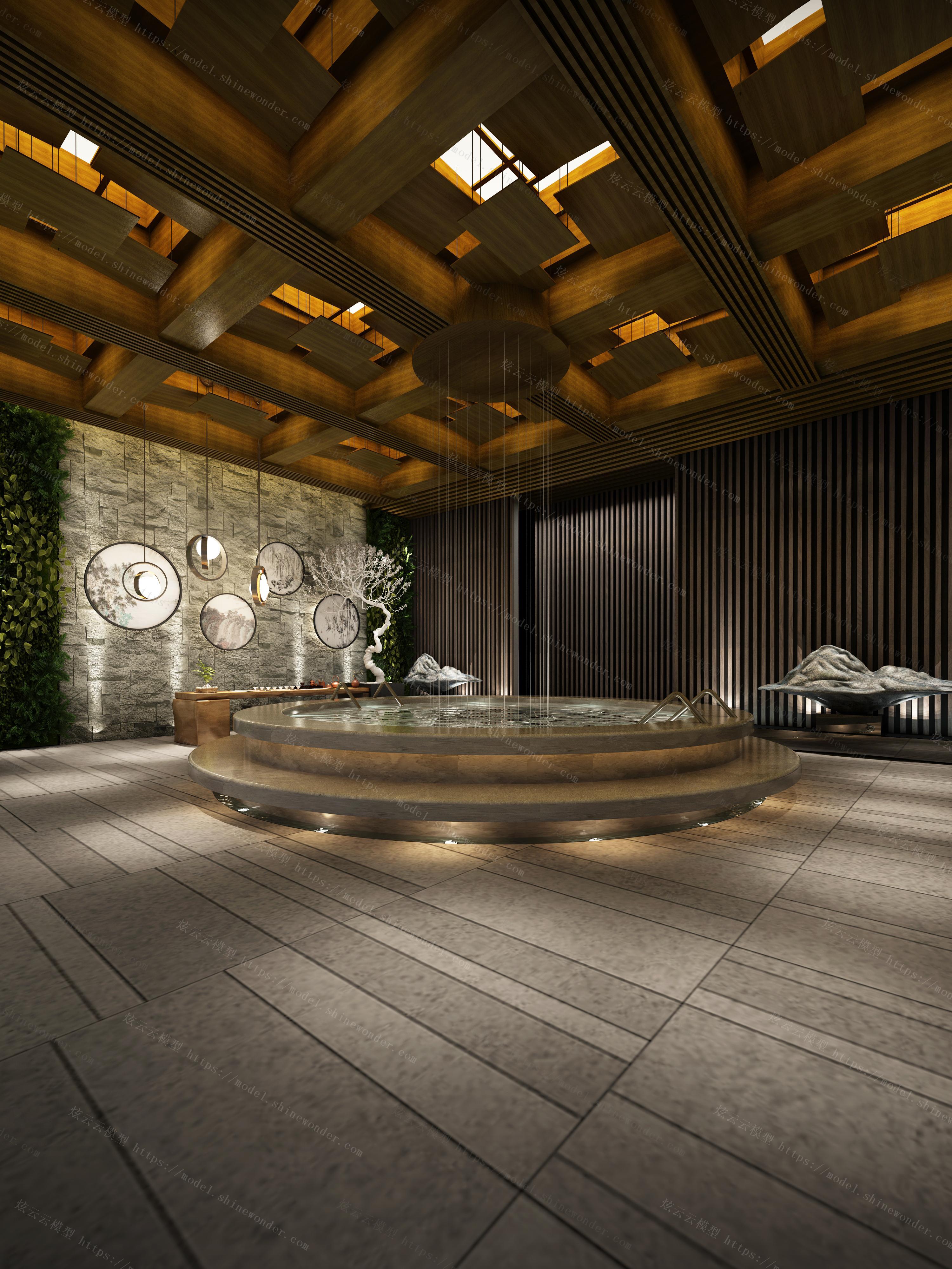 水疗馆大厅模型