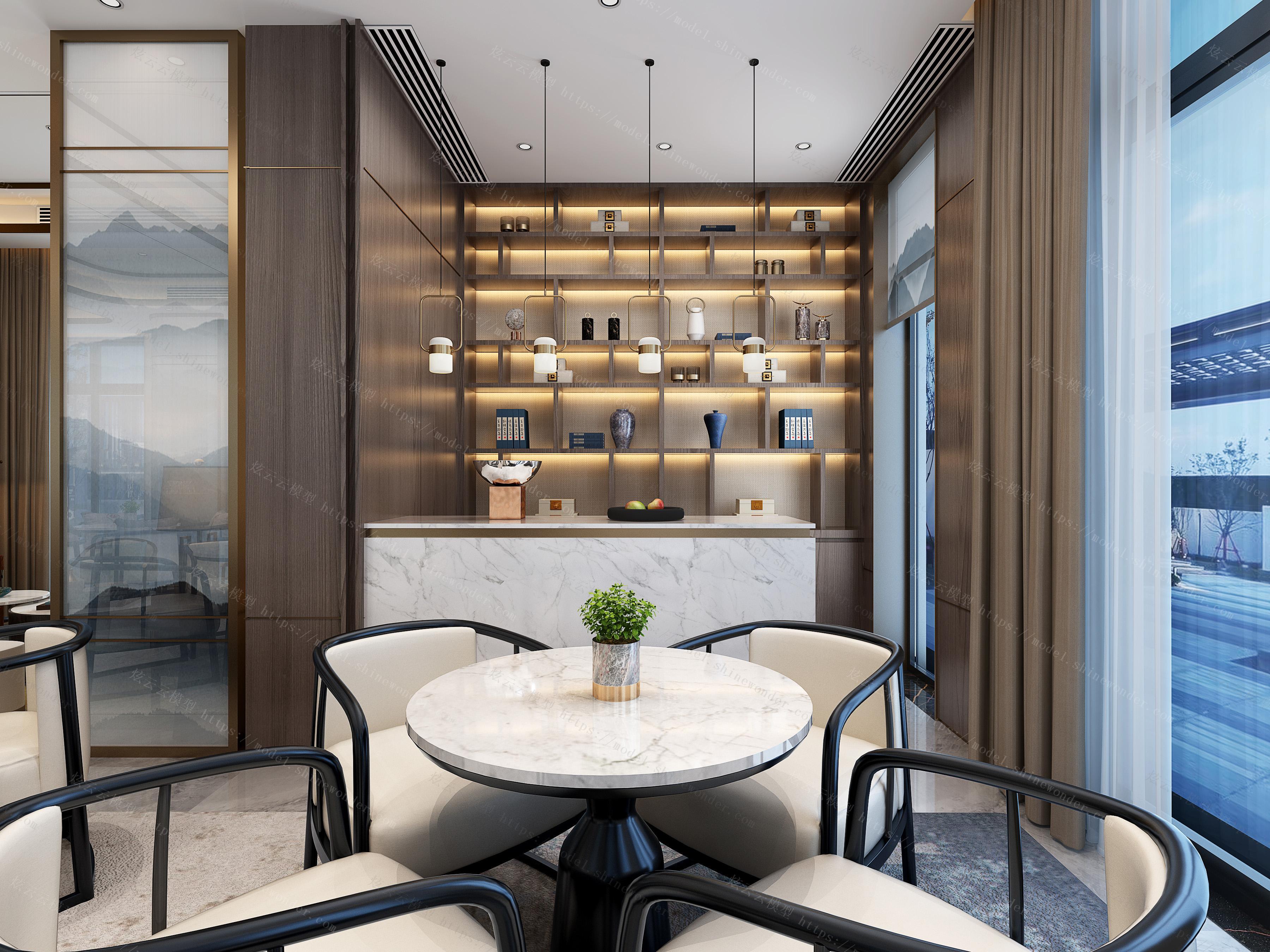 新中式售楼处模型