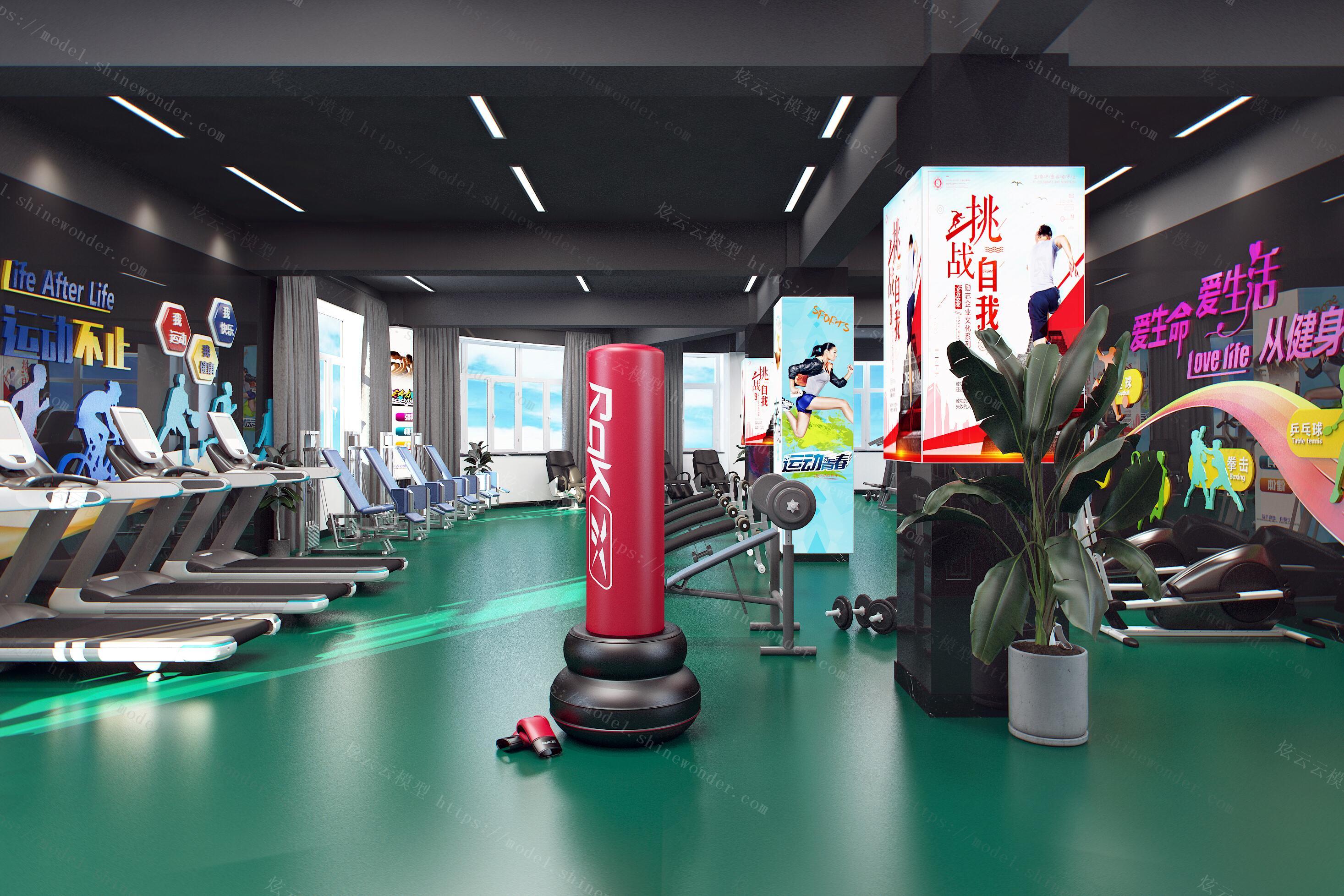 现代风格健身房模型