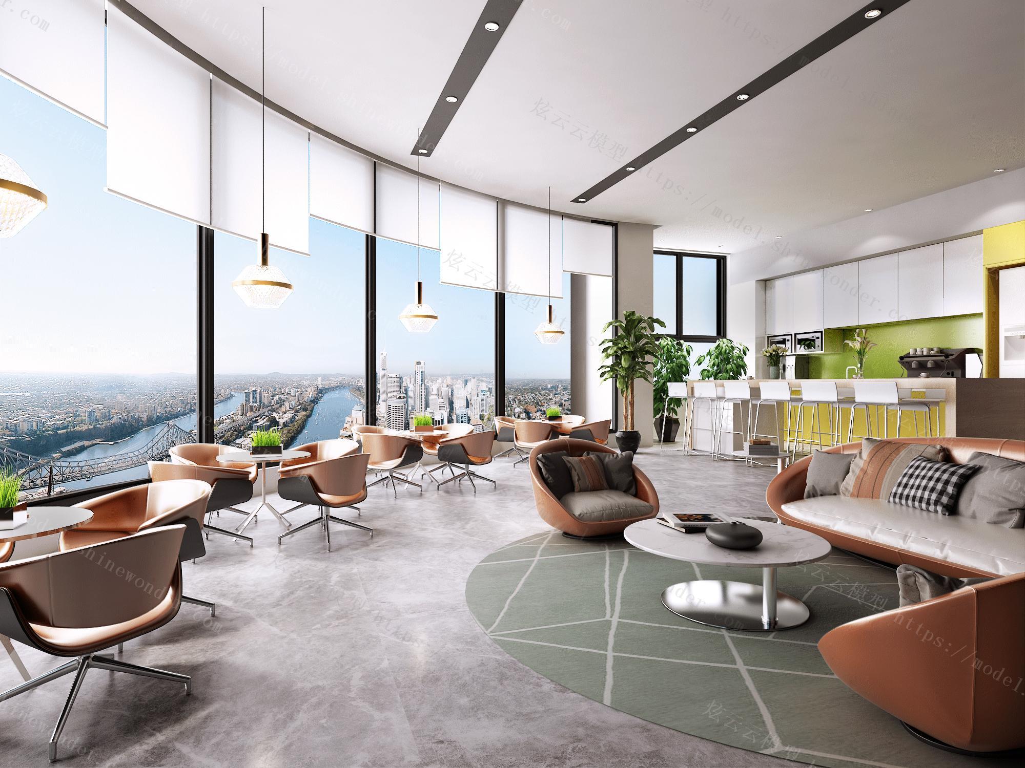 办公休息区模型