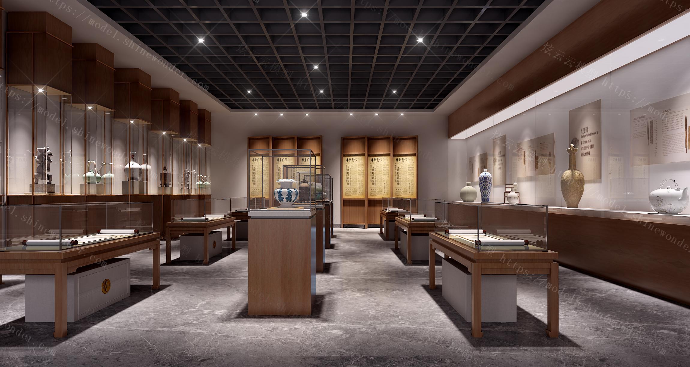 中式博物馆模型