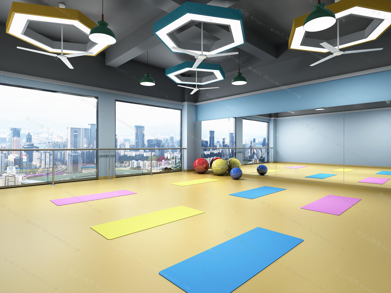 舞蹈瑜伽教室模型