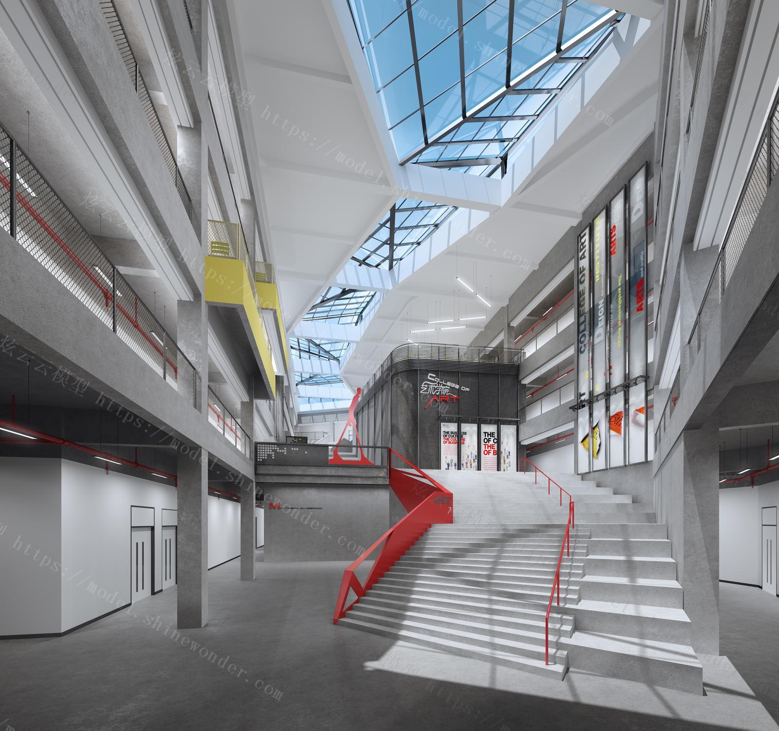 艺术学院设计厂房模型