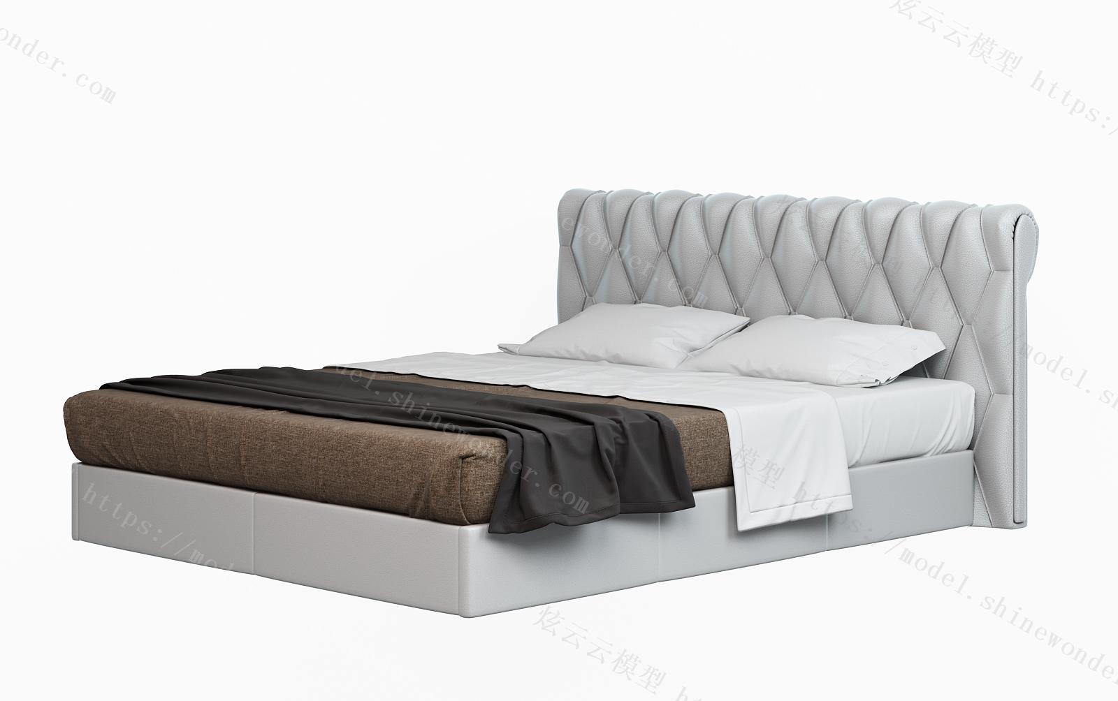 现代软包皮床模型