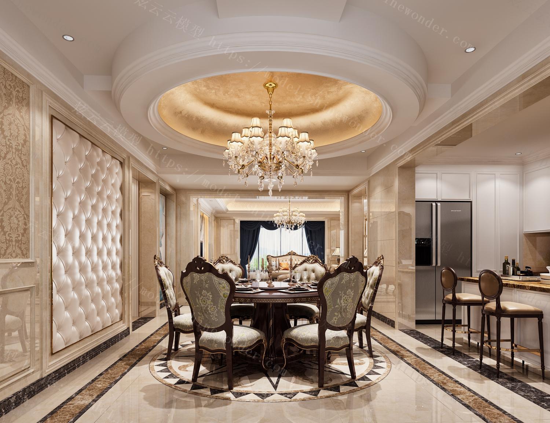 欧式客餐厅模型