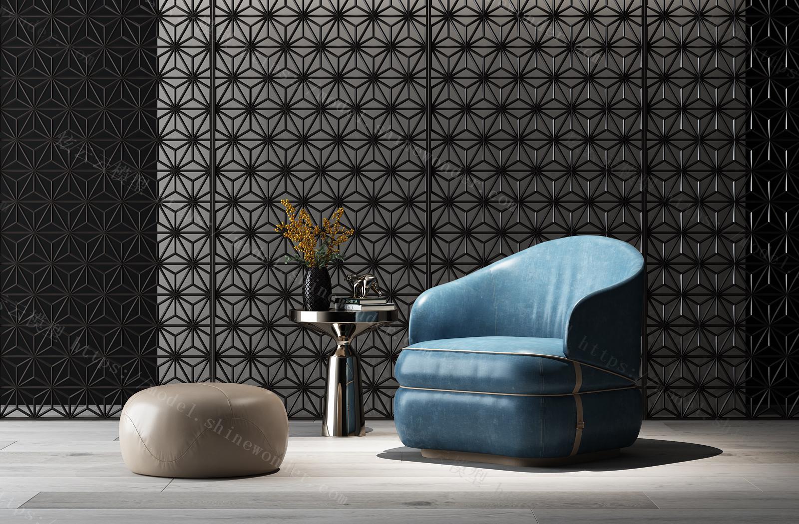 现代休闲沙发组合模型