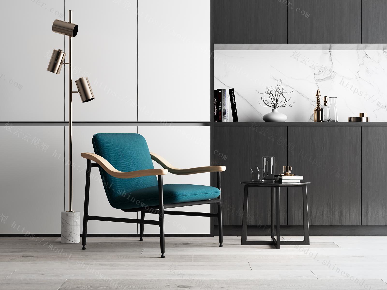 现代休闲座椅模型