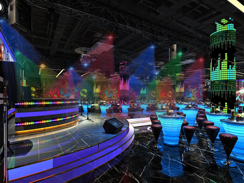 音乐酒吧模型
