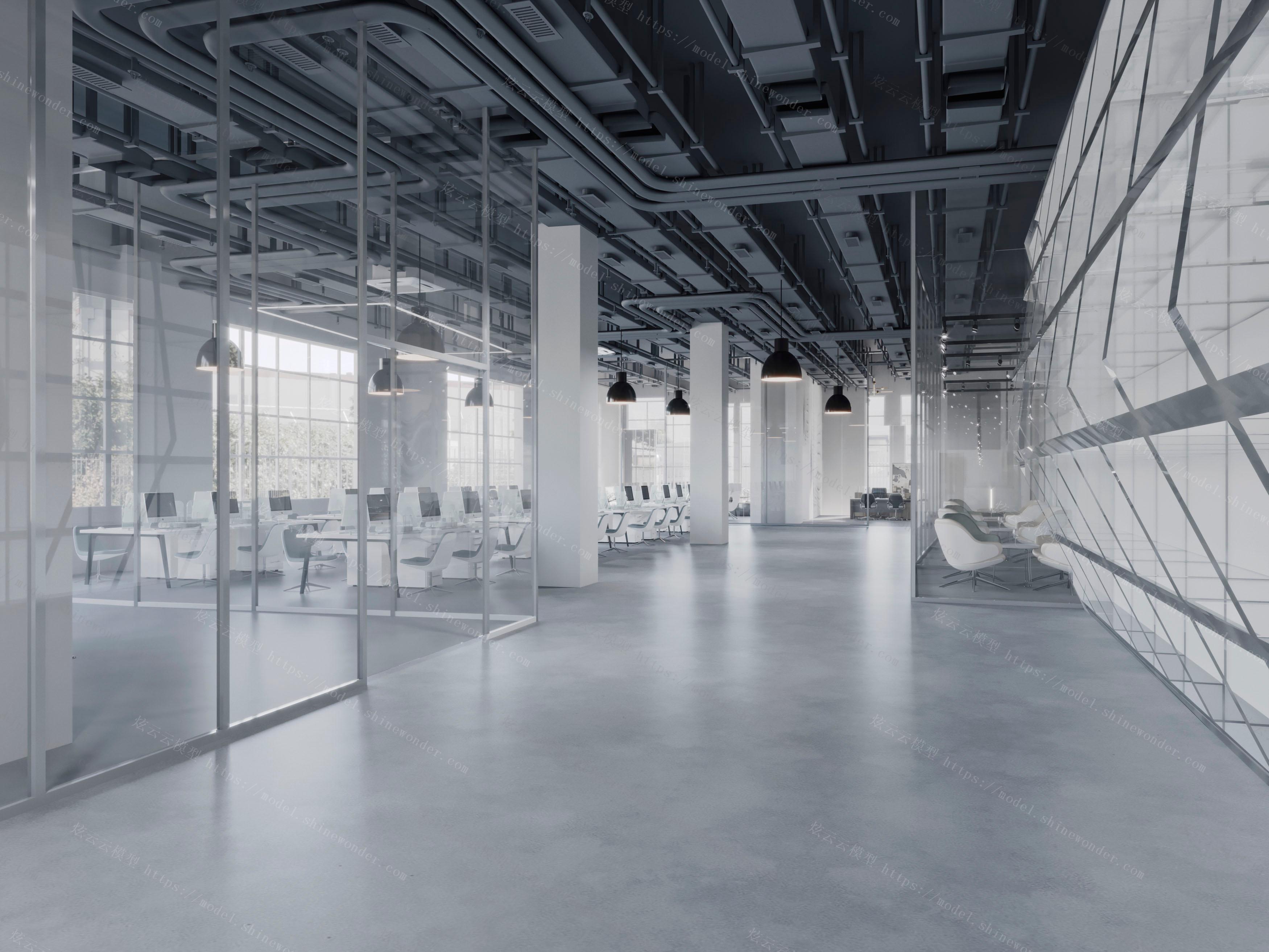 工业风办公室模型