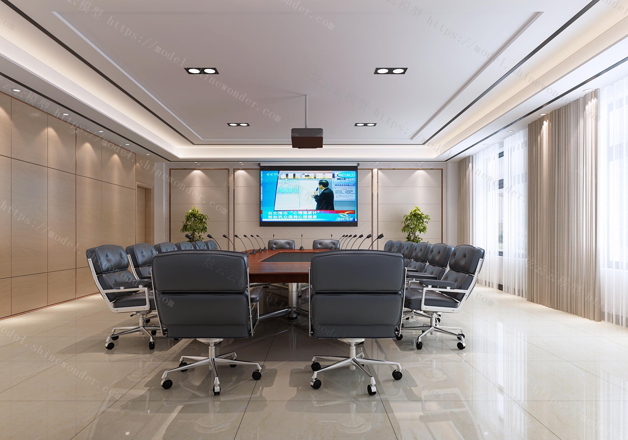 小会议室,会议室,小办公室,大会议室,模型