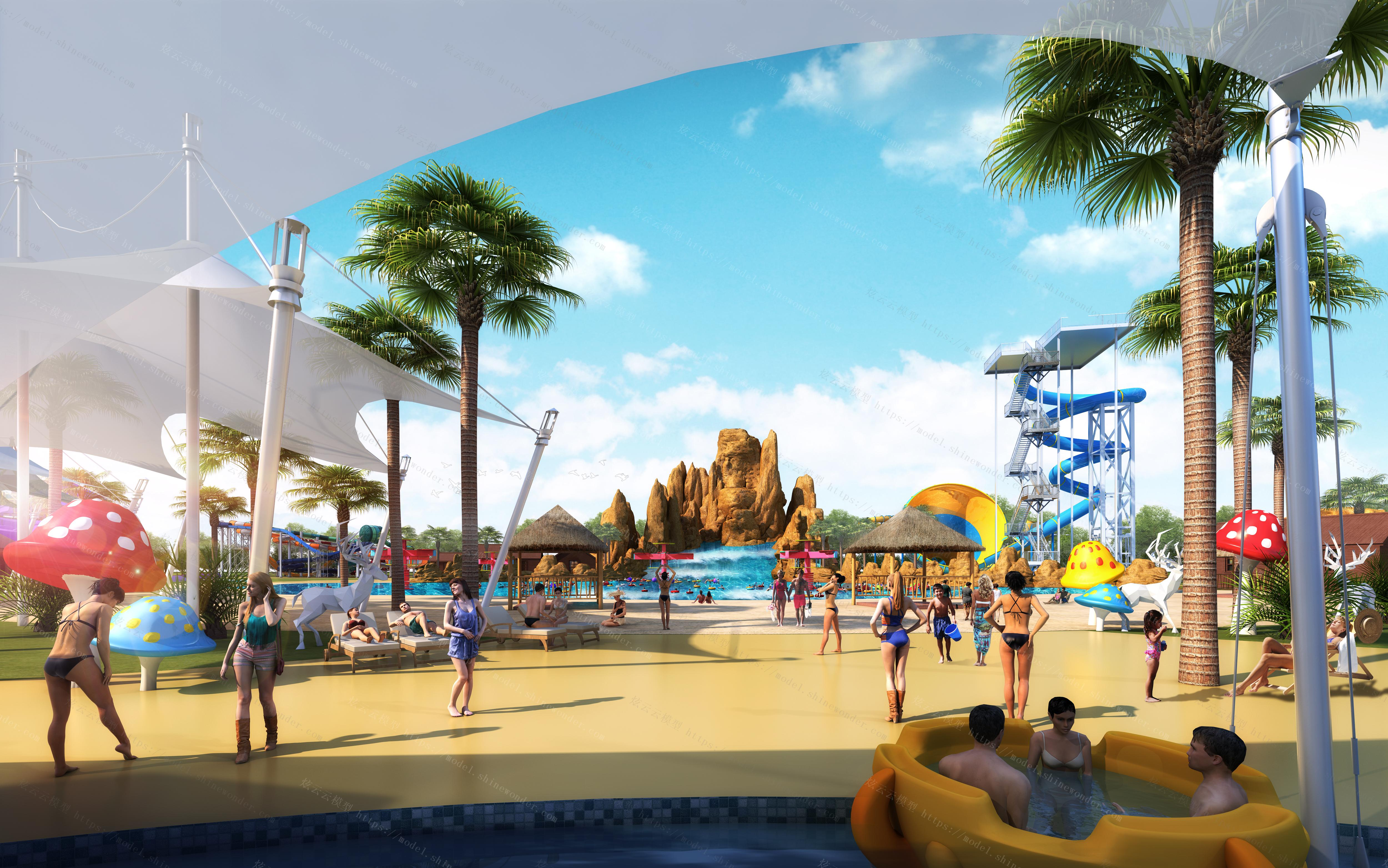 现代游乐园模型