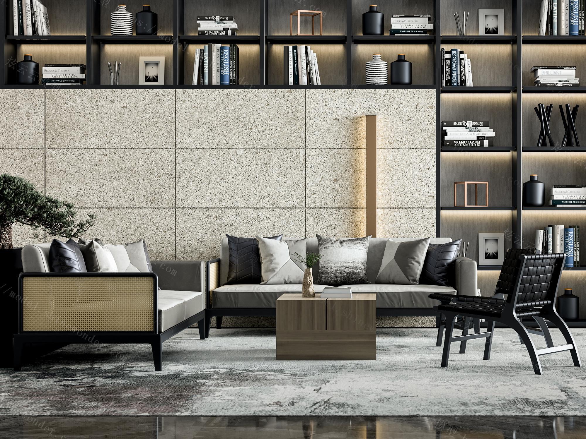新中式沙发组合模型