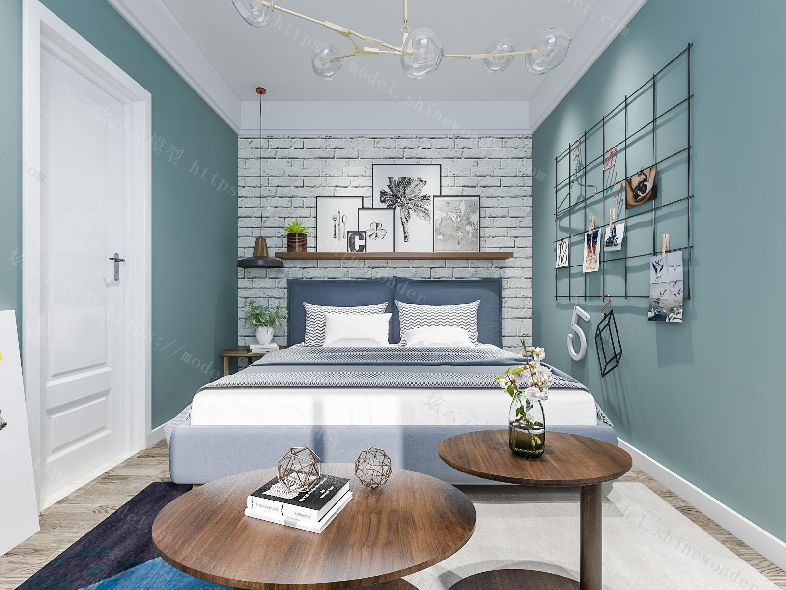 现代公寓模型