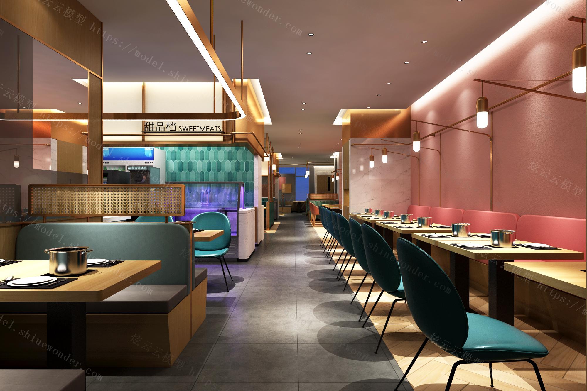 多伦多海鲜自助餐厅模型