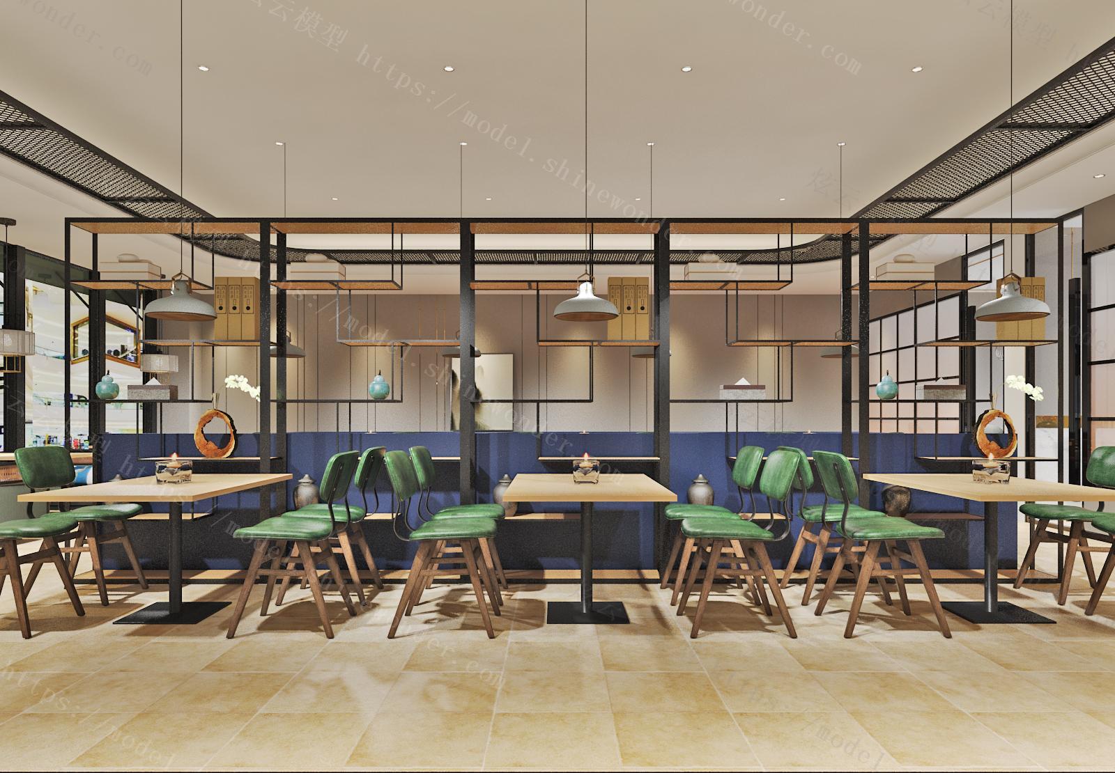 湘菜餐厅模型