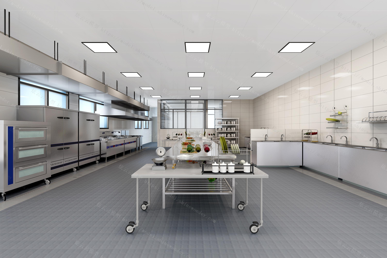 后厨操作间模型