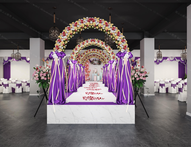 婚礼宴会厅模型