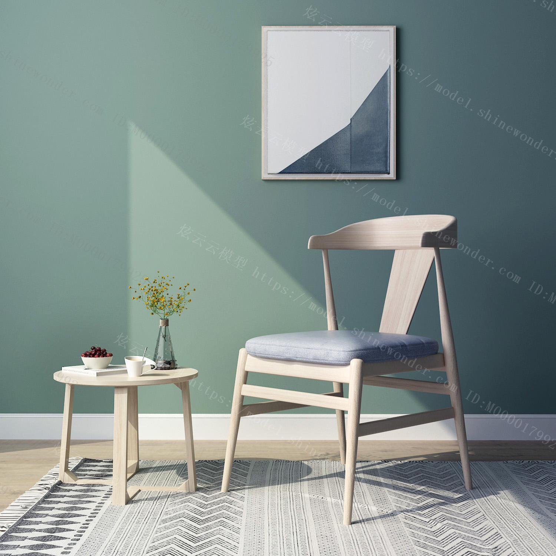 现代禅意椅子模型