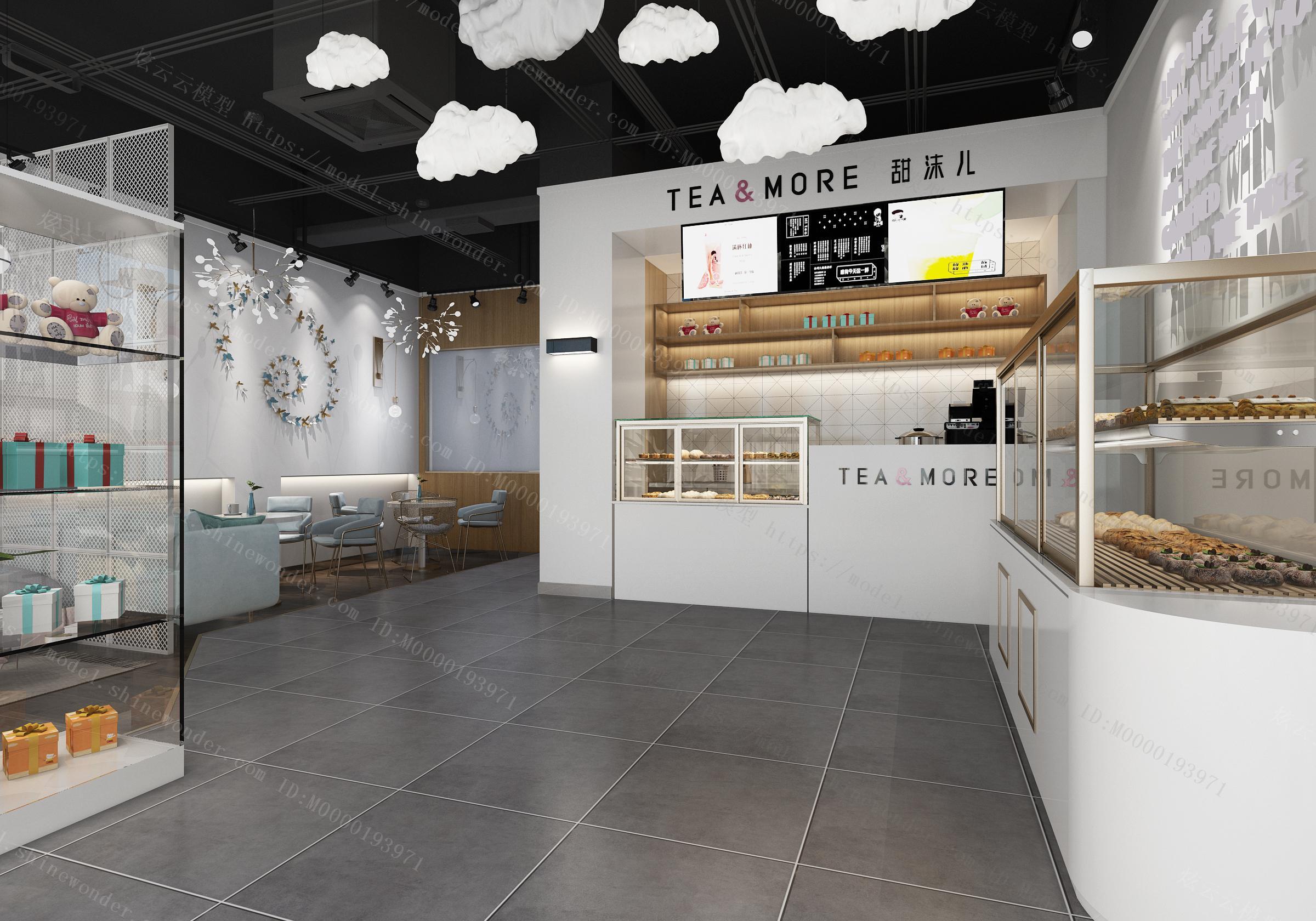 北欧甜品面包店模型