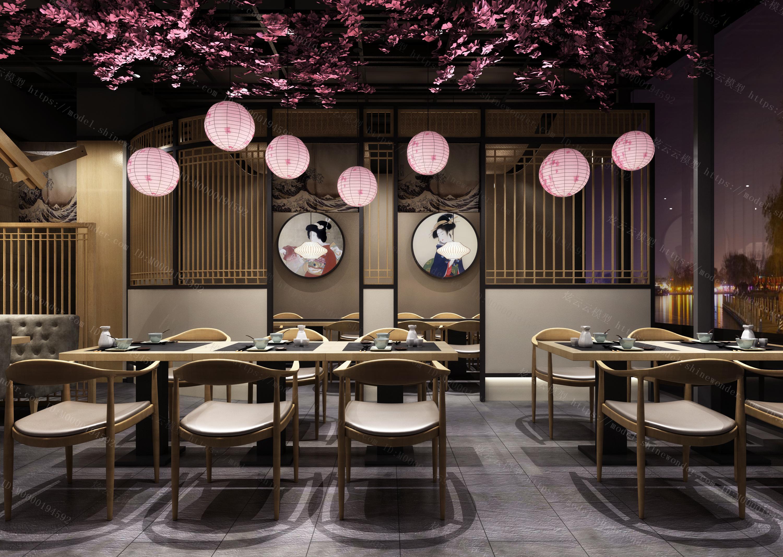 日式寿司店模型