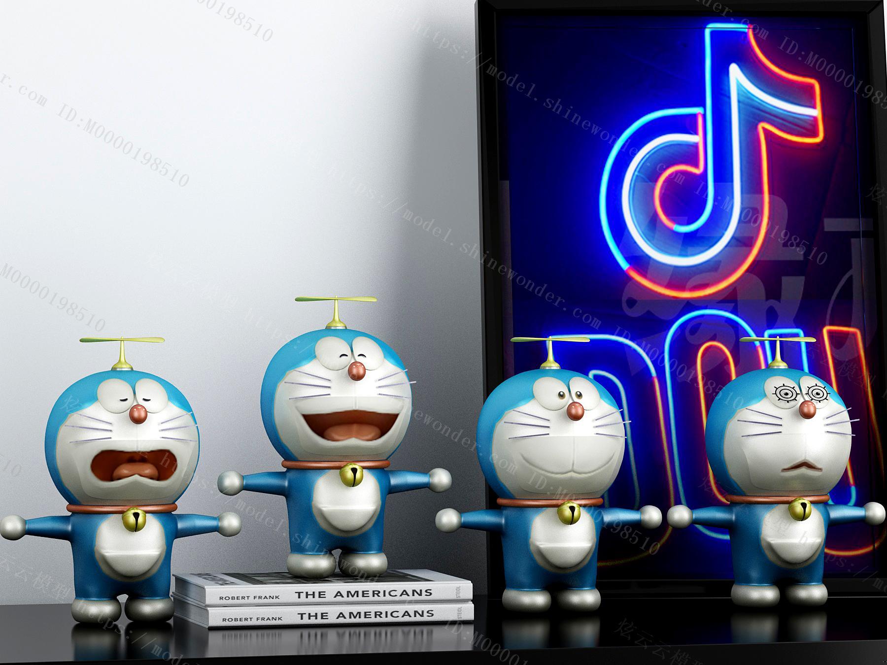 现代卡通哆啦A梦摆件玩具模型