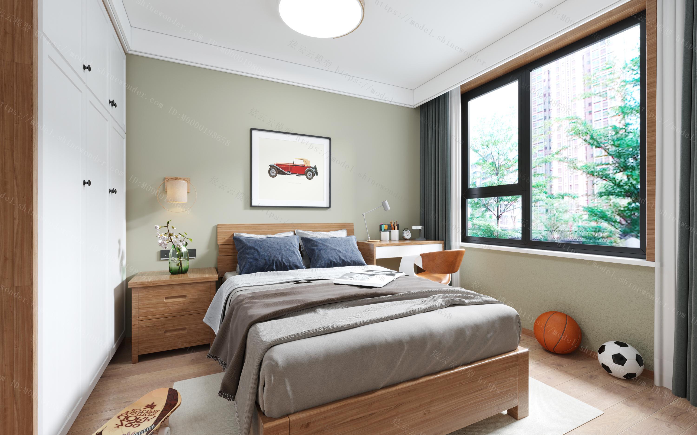 北欧卧室模型