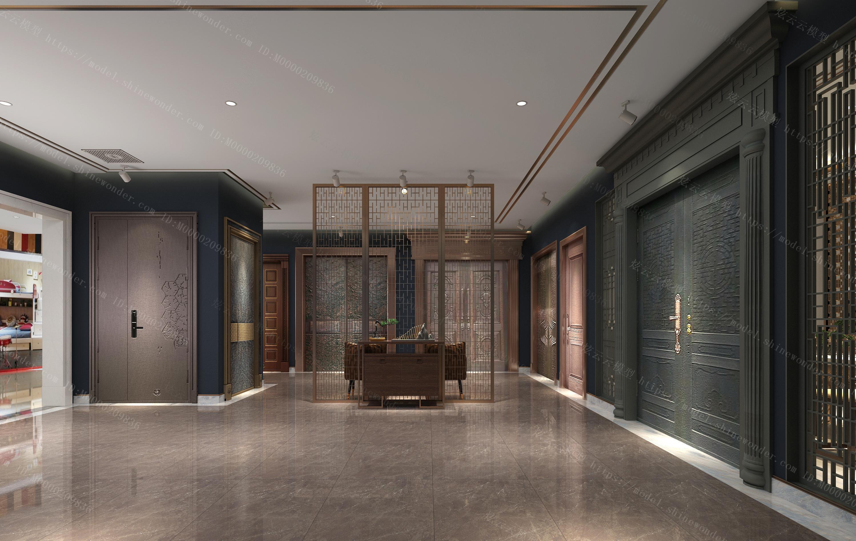 门展厅模型