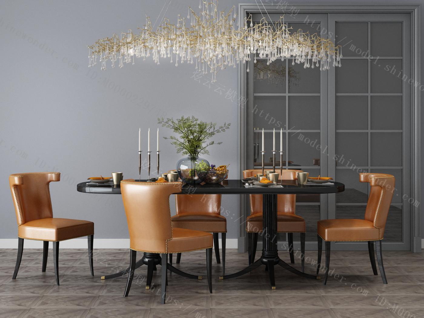 现代家居组合,饰品,沙发柜子挂画模型