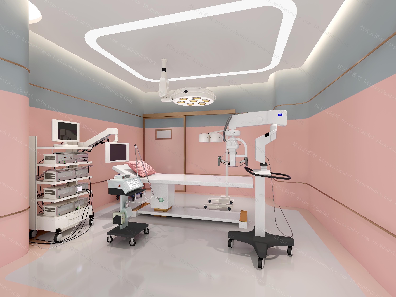现代医院手术室模型