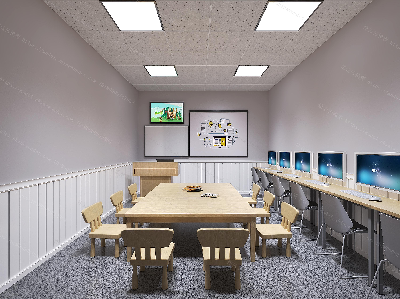 现代儿童教室模型