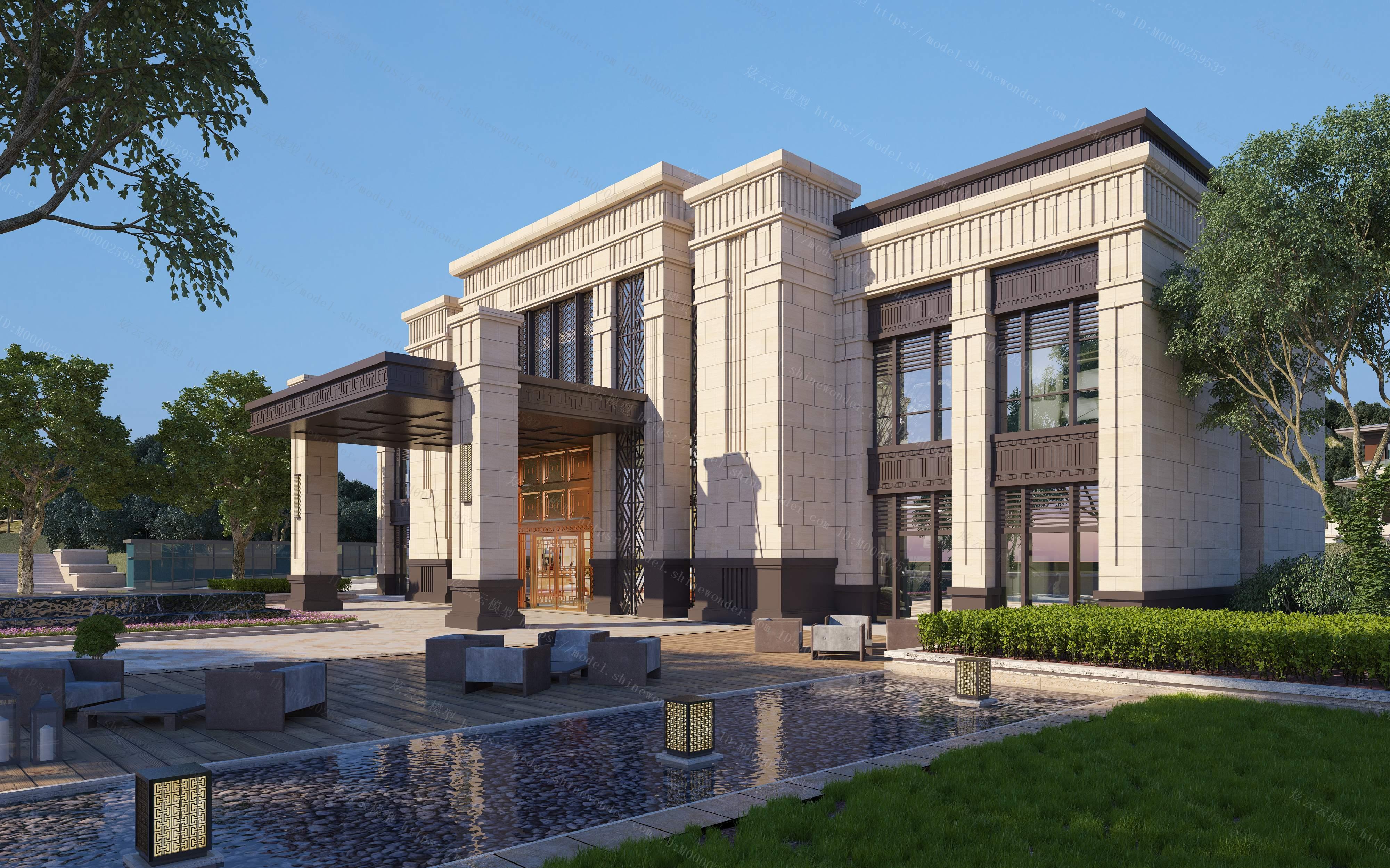 售楼部建筑外观模型