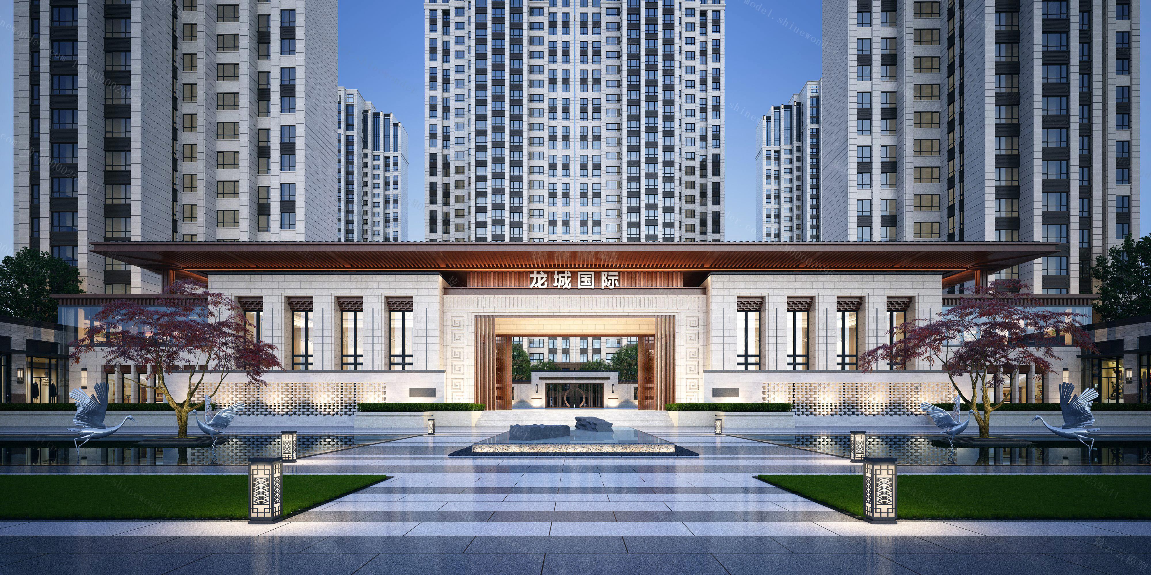 大门入口建筑模型