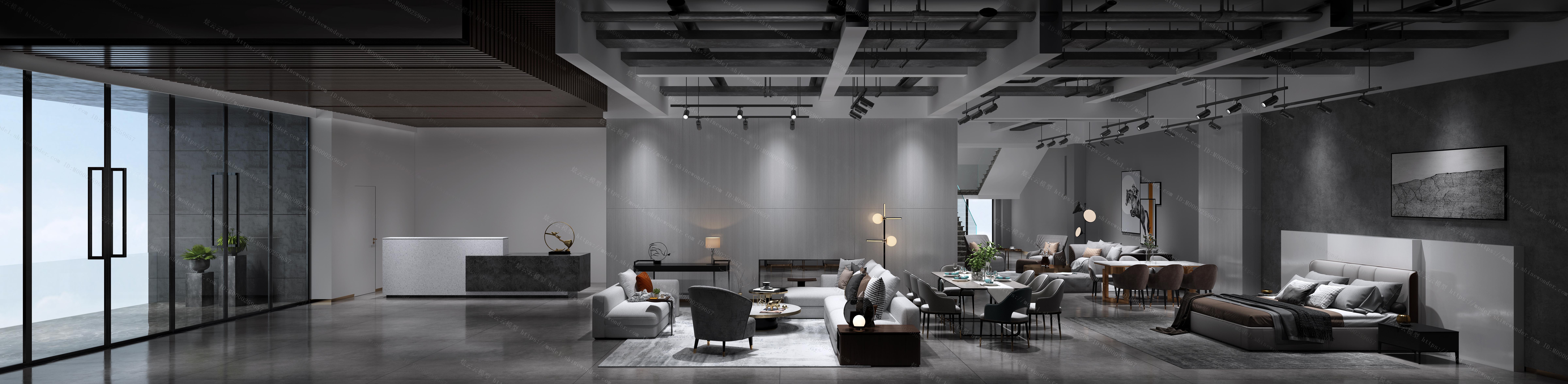 现代家居展厅模型
