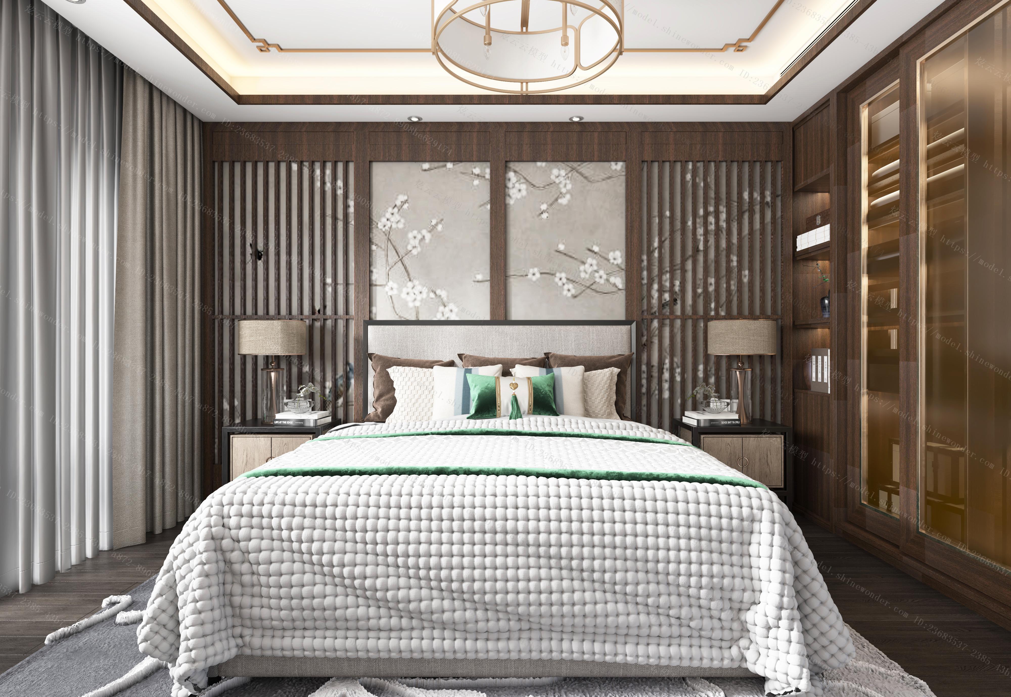 中式卧室 (2)