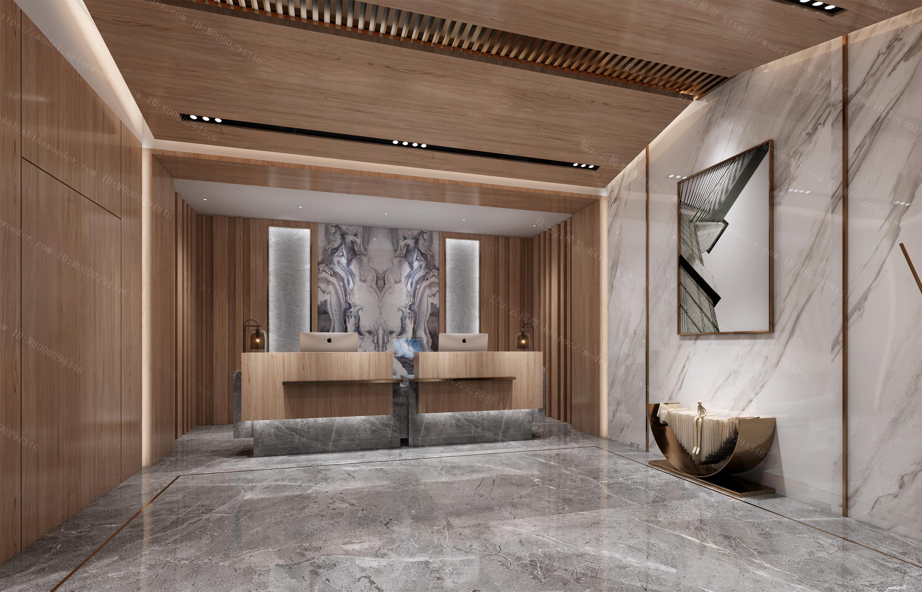 现代酒店大厅模型