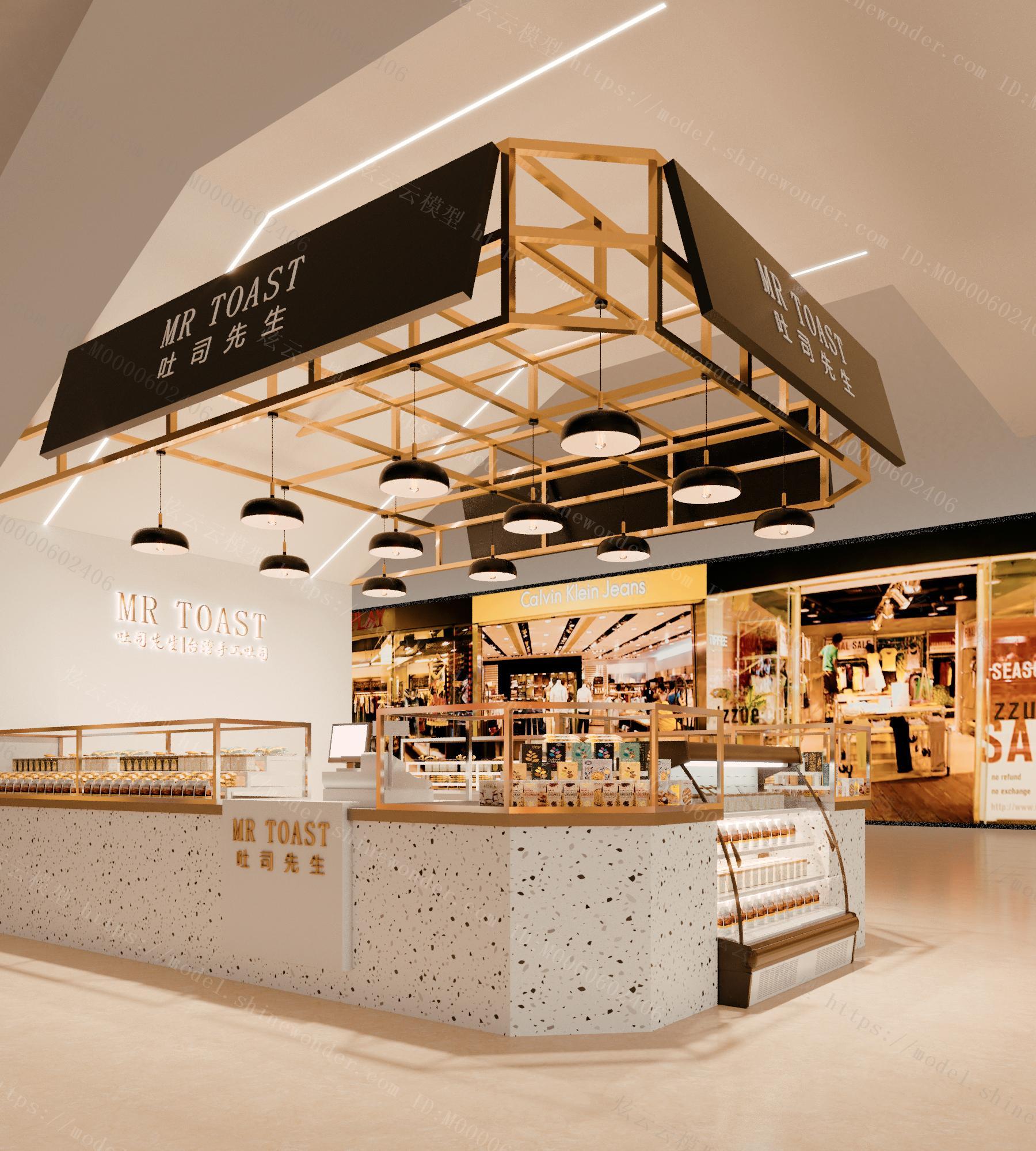 现代面包店模型